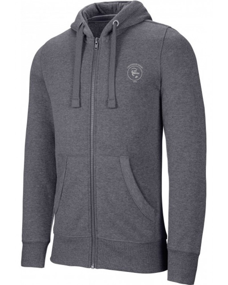 Sweat Capuche chiné zippé H/F CROCODILES NETWORK FFSE - Akka sports