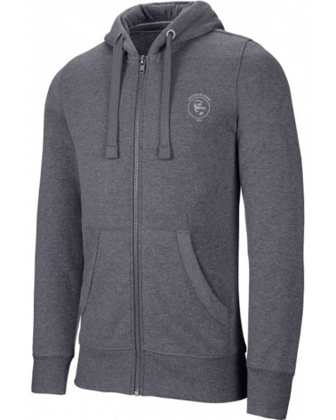 Sweat Capuche chiné zippé H/F Crocos