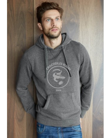 Sweat Capuche chiné Homme - Femme CROCODILES NETWORK