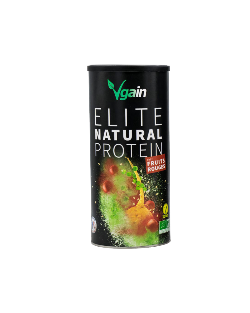 Elite Natural Protein - Goût fruits rouges - Vgain